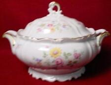 EDELSTEIN china QUEEN'S ROSE 17919 pattern Covered VEGETABLE Serving Bowl & Lid