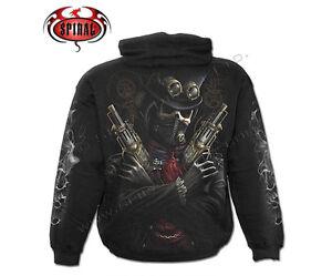 Spiral Direct STEAM PUNK BANDIT Hooded,Skull/Gothic/Biker/Pullover/Hood/Hoodie