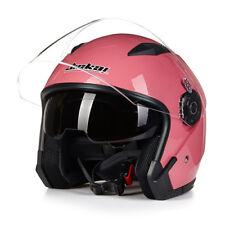 Jiekai 512 Motorcycle Helmet Open Face Motorcycle Vintage with Dual Lens MOTO