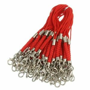Braided Lanyard Cell Phone Straps Mobile Phone Chains Bag Charms Pendant 50pcs