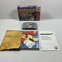Dr. Mario 64 (Nintendo 64, 2001) N64 Complete In Box & Manual Authentic Tested!