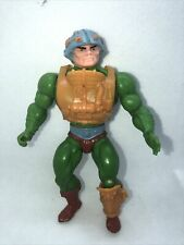 Vintage He man Man At Arms Masters of the Universe motu 1981 With Harness Shin