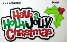 Have A Holly Jolly Christmas Title scrapbook premade paper piecing by Rhonda