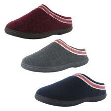 Clarks Womens Felt Slipper With Trim Shoes