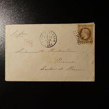 NAPOLÉON N°30 LETTRE COVER GC 2983 PORT A BINSON PR BIENNE (C. DE BERNE) SUISSE