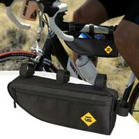 Bicycle Triangle Frame Bag Bike Front Top Tube Waterproof Saddle Pannier Pouch