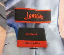 "JERRY GARCIA TIE "" BIRD LAND"" COLLECITON FIFTY""  100% SILK BLUE COLORS FREE-SHIP"
