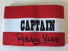 More details for rare bobby kerr sunderland 1973 signed captains armband + coa 1973 fa cup final
