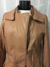 Zishen Dear Myself Faux Leather Smoke Pink Women's Jacket Size Small