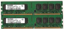 Lot de 2 barrettes 2GB PC2 6400 ELPIDA soit 4GB DDR2 800