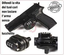 Lucchetto Serratura a Combinazione per Armi Pistola Fucili Fosco Anti Utilizzo