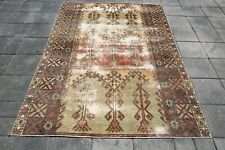 Oushak Rug Wool Rug Area Rug 5'0x7'0 FT Turkish Rug  Anatolian Rug 3054 CARPETS