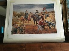 "Civil War Print ""That Devil's ""Bull Pups"""" by Clyde Heron Signed/Numbered"