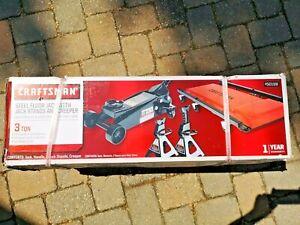 Craftsman 3 ton Automotive 3 Pieces Floor Jack Set-Floor Jack, 2 Stands, Creeper