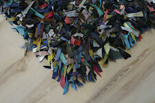 Tapis en cuir poil long multicolore 200x300 cm en cuir véritable