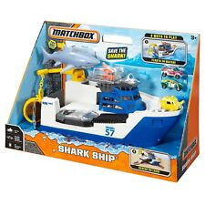 Matchbox Shark Ship Mission Marine Rescue Mega Rig Floats in Water Rolls