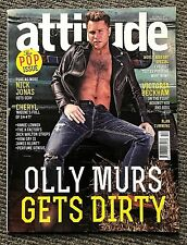Rare Vintage Attitude Magazine Decemer 2014 Olly Murs Nick Jonas - Gay Interest