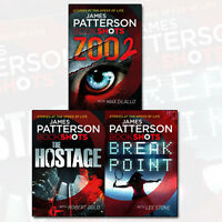 James Patterson BookShots Collection 3 Books Set Zoo 2, Hostage, Break Point NEW