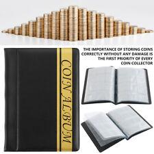 120 Coin Album Coins 50p Penny Money Storage Case Holder Collector Folder Book