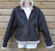 Vintage Wilsons Adventure Bound Brown Sheepskin B3 Flying Pilot Jacket - XL