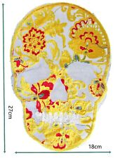 Large Yellow Skull sew on only Patches Patch Badge Badges Logo motif #427