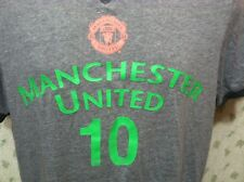 MANCHESTER UNITED T-Shirt Medium Gray #10 Wayne Rooney Soccer