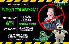 Personalised Ghostbusters Ice Age Birthday Ticket Invitations Photo invites