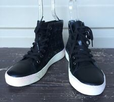 ad41fb0fd203 SAM EDELMAN BRANSON LACE UP HIGH TOP FASHION SNEAKERS SHOE BLACK SZ 7.5 NEW   120