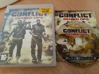 Conflict : Denied Ops (Sony PlayStation 3, 2008) Complete with manual