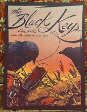 BLACK KEYS COACHELLA INDIO CA KEVIN TONG Poster S/N 2012 MINT RARE SALE