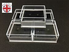 100 QUALITY EARRING DISPLAY BOXES & PADS CLEAR LID WHOLESALE JEWELLERY Free P&P