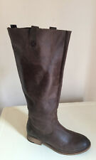 LADIES WOMENS KNEE HIGH TAN LEATHER BOOTS  SIZE 4 ALDO