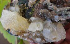 Natural Mineral Crystal Heulandite On Calcite Fossils Minerals Specimen H=8