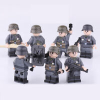7PCS World War II Building Blocks German Mountain Division Army Mini Figure Toy
