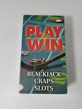Play And Win Slots Craps Blackjack VHS Set
