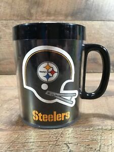 Vintage NFL Pittsburgh Steelers Thermo Serv Insulated 1976 Coffee Mug Cup