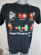 """Vintage 1998 South Park Sz L 46"""" Chest """"The Many Deaths of Kenny"""" T-Shirt Funny"""
