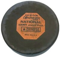 NHL VINTAGE OFFICIAL PRACTICE GAME PUCK CCM ART ROSS CONVERSE MADE IN THE 🇺🇸