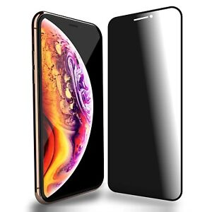 10D Anti Spy Privacy Tempered Glass Screen Protector For iPhone XS Max