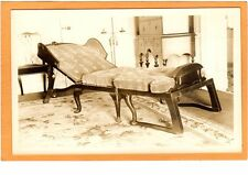 Real Photo Postcard RPPC - Furniture Fold-Out Chaise Lounge