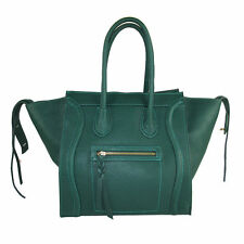 Borsa vera pelle Made in italy genuine leather FG Celin verde scuro