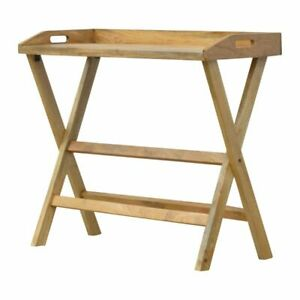 WOOD SCANDI RUSTIC  Butler Style Writing Desk with Foldable Legs Handmade