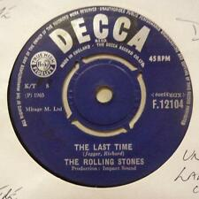 """Rolling Stones(7"""" Vinyl)Last Time / Play With Fire-Decca-F 12104-UK-196-Ex/VG+"""