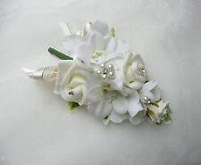 Wedding Flower Buttonhole Ivory Rose & Delphinium .... PIN ON