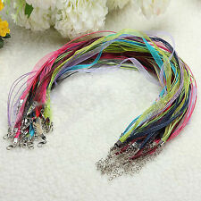 20Pcs Mixed Organza Voile String Ribbon Cord Clasp Chain FOR DIY Necklace Making