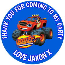 BLAZE AND THE MONSTER MACHINES 24 GLOSS PERSONALISED PARTY BAG, STICKERS