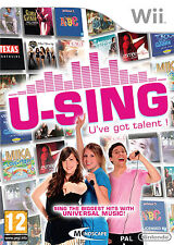 U-Sing Wii Game Nintendo Official You Got Talent Party Fun Game Only