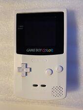 RetroSix Game Boy Color IPS Console LCD V2 GBC Prestige Edition ABS White