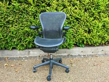 Size B Black Herman Miller AERON chair with lumbar support FULLY LOADED