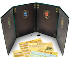 The Master's Tome Green 4-Panel Customizable GM Screen with Free Inserts